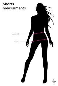 Poledancerka_woman_SHORTS-measures